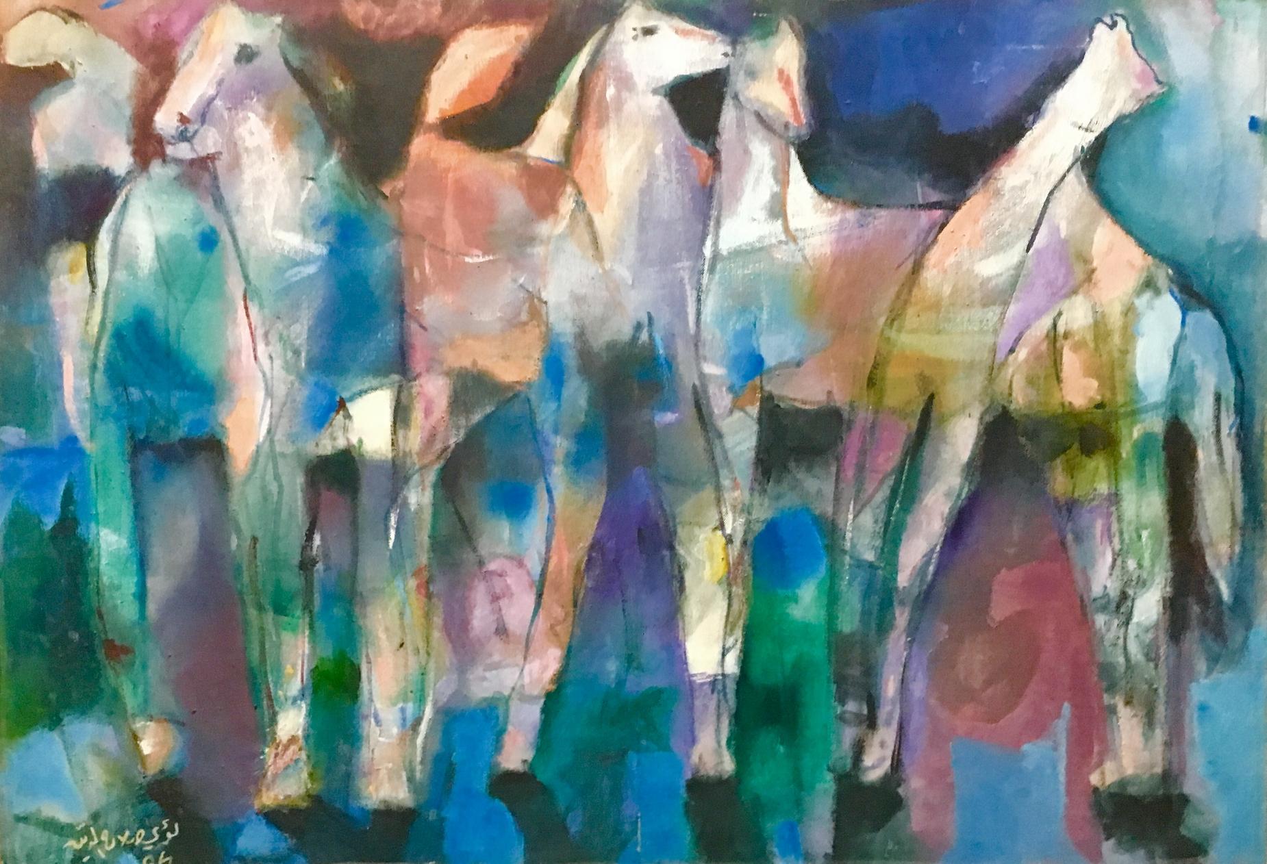 169_313 - (c) Artist loai salahedeen 100 in 70 oil on canvas  - الفنان لؤي صلاح الدين -.JPG