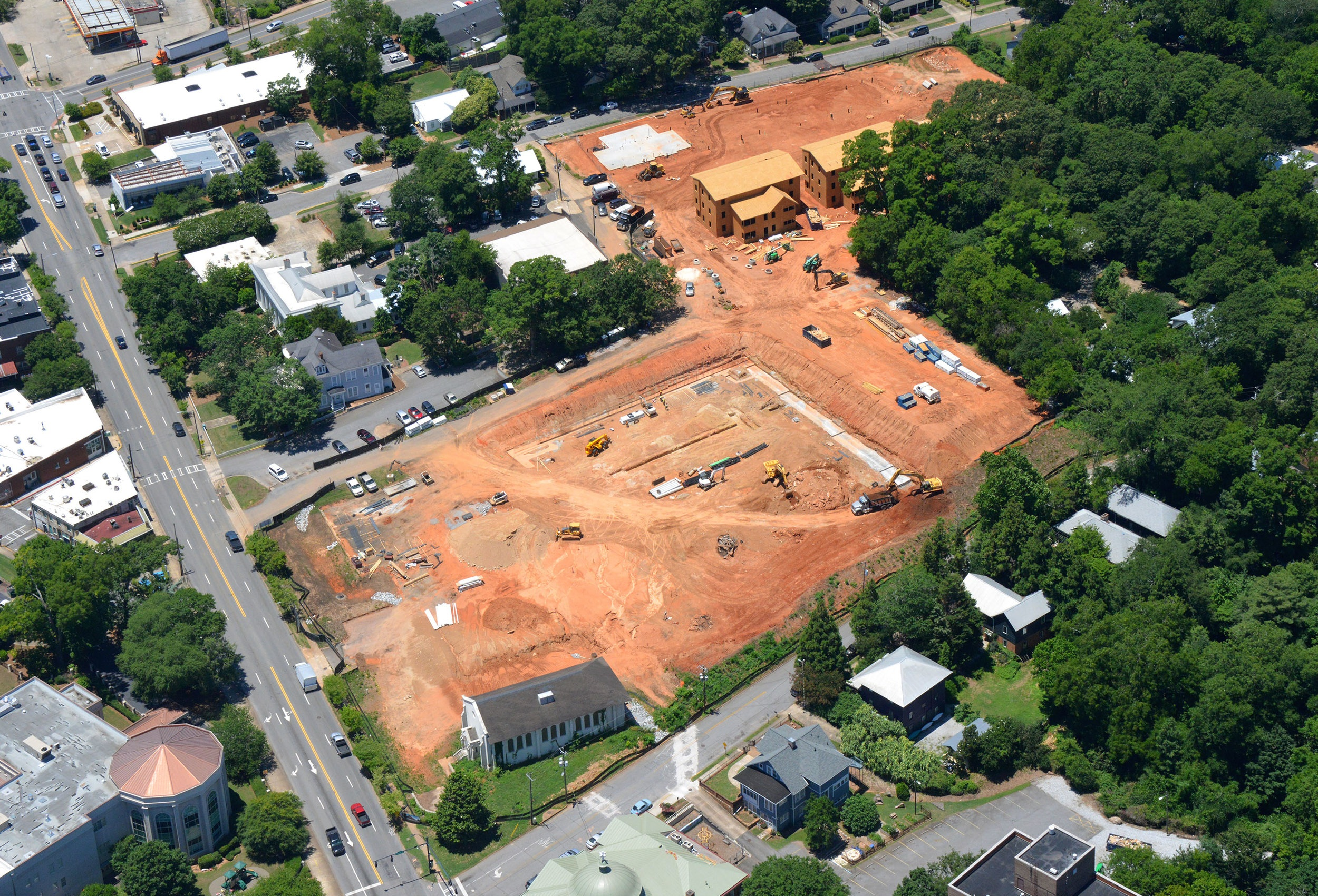 construction begins at 100 prince -