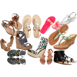 Raquel Greer Gordian discusses how wedges and embellished sandals can provide comfort as well as style in outdoor terrains.