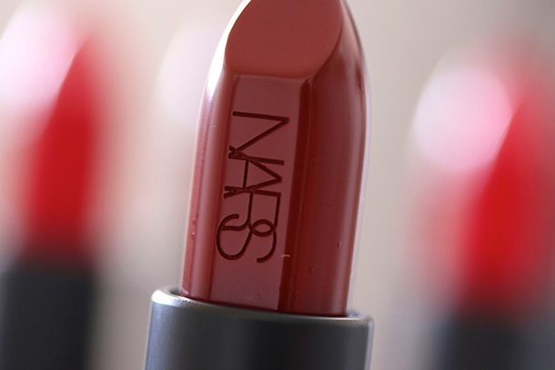 Raquel Greer Gordian discusses how her top pick, the Nars Audacious Lipstick, has a long-lasting, smudge-free variety of seasonal shades.