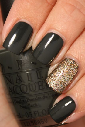 Black Onyx + Goldeneye by OPI