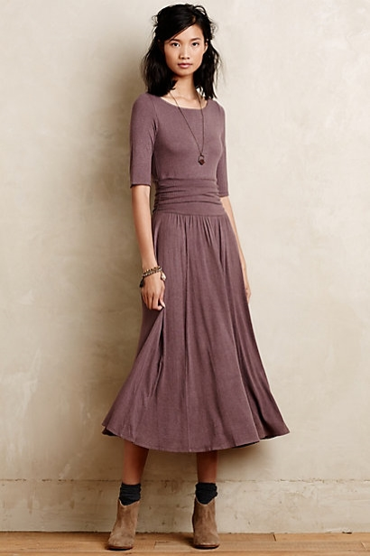Jersey Midi Dress by Bordeaux at Anthropologie