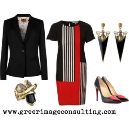 Raquel Greer Gordian discusses how pairing a jacket with a power dress will make an assertive yet interesting look.