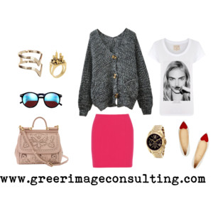 Raquel Greer Gordian discusses how pairing a heavy winter cardigan with a spring flat and miniskirt will help you stay chic during the seasonal transition.