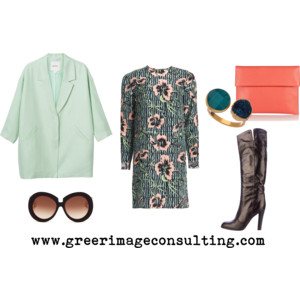 Raquel Greer Gordian discusses how mixing a pair of spring sunglasses and a shift dress with a winter knee-high boot and overcoat will help you keep your outfits appropriate for whatever weather comes your way.