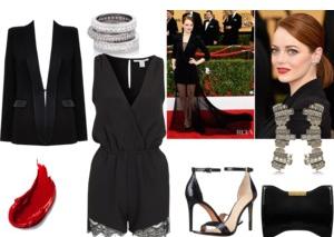 Raquel Greer Gordian exhibits an alternative look for Emma Stone's menswear look.