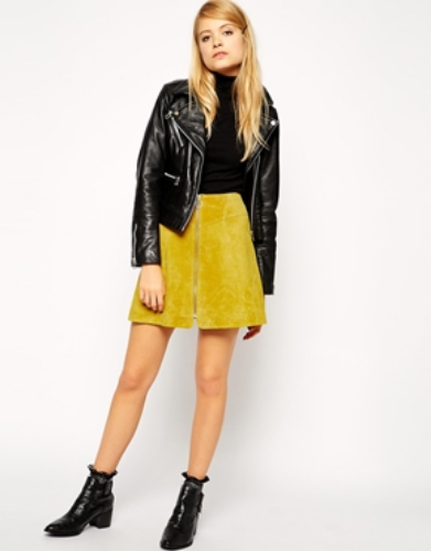 Raquel Greer Gordian discusses how the suede skirt is a top trend for spring.
