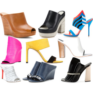 Raquel Greer Gordian exhibits an array of trendy spring mules.