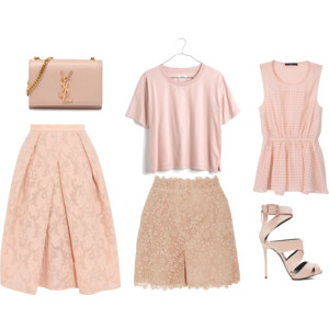 Raquel Greer Gordian exhibits a selection of blush pink items that are perfect for your spring wardrobe.