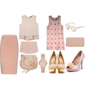 Raquel Greer Gordian displays blush pink inspired outfits that are perfect for springtime.