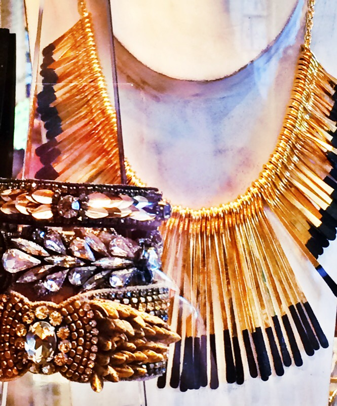 Raquel Greer Gordian displays a selection of unique statement jewelry from Leighelena.