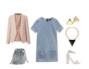 Raquel Greer Gordian exhibits an outfit that is professional yet unexpected in the workplace.