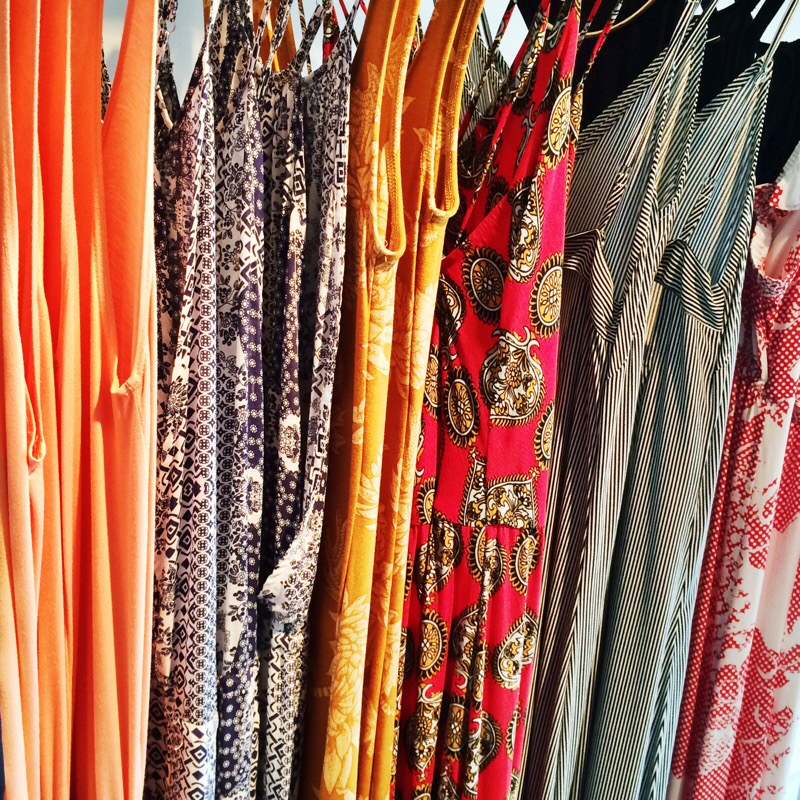 Raquel Greer Gordian displays a variety of boho maxi dresses from Southern Hippie.