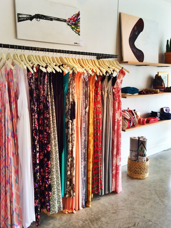 Raquel Greer Gordian exhibits a selection of maxi dresses from the Austin local boutique Southern Hippie