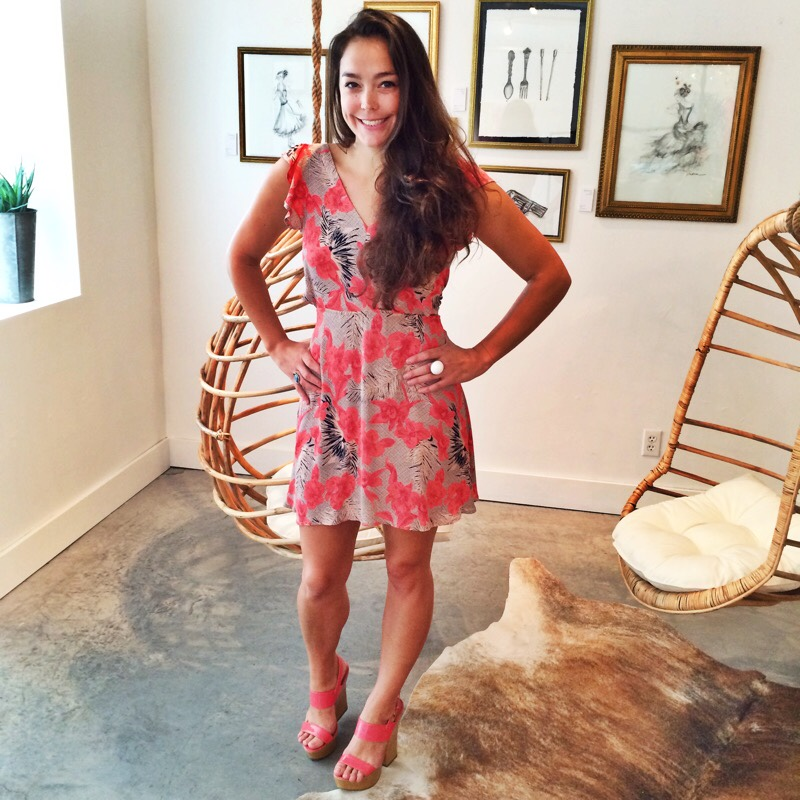 Raquel Greer Gordian models the For Love and Lemons Hula Dress at Southern Hippie.