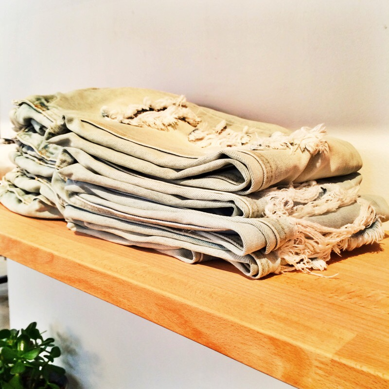 Raquel Greer Gordian takes a look at a selection of army green ripped jeans from Southern Hippie.