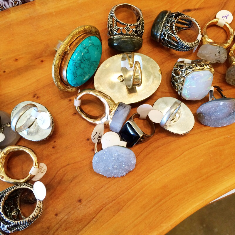 Raquel Greer Gordian shows a selection of statement rings from the Austin boutique Strut.