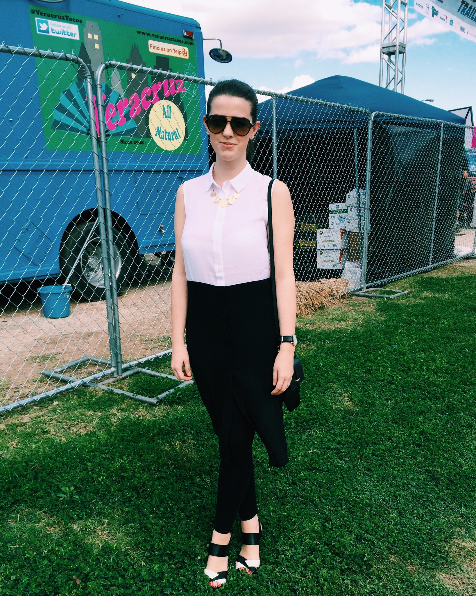 Raquel Greer Gordian exhibits Lauren Dyer's outfit for SXSW.
