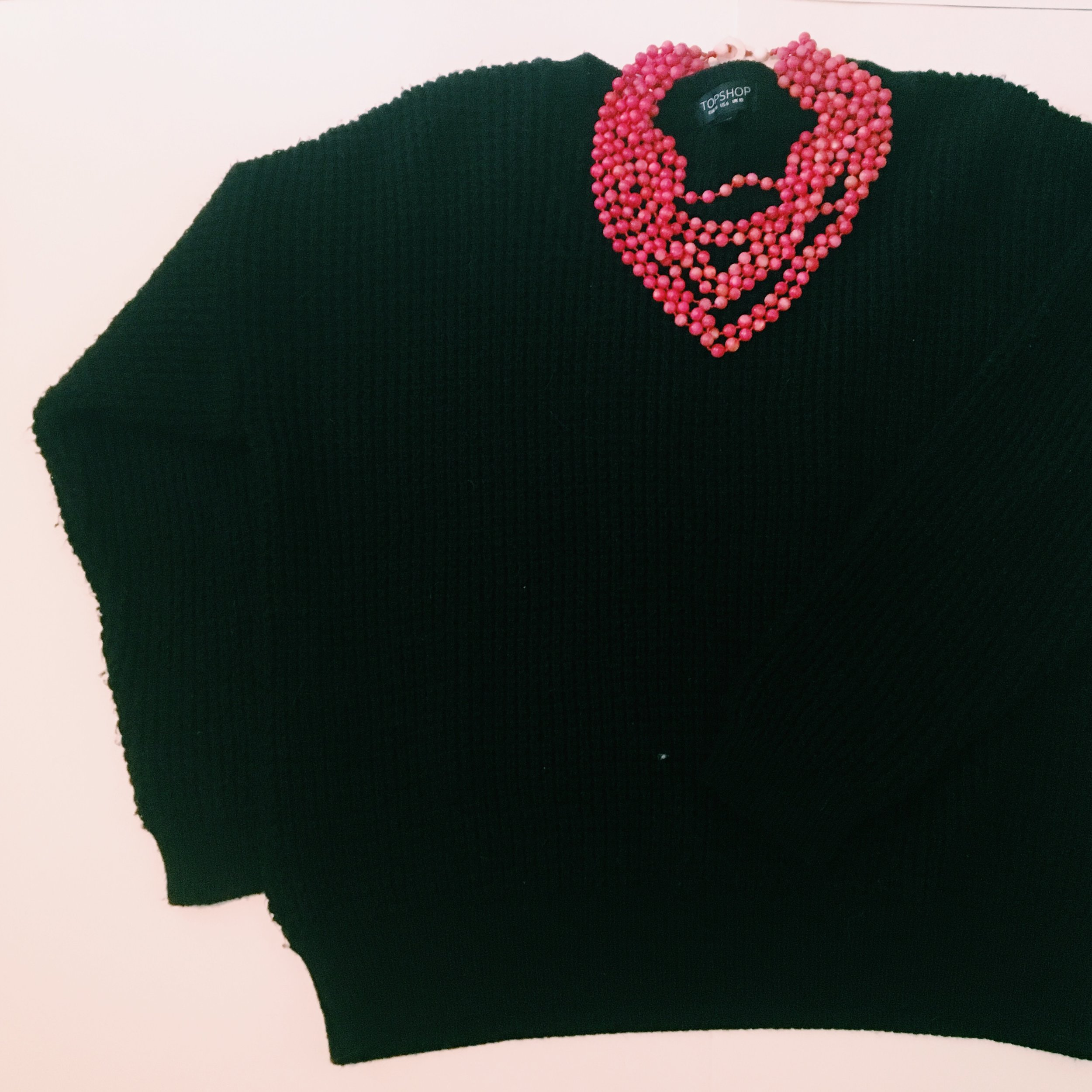 A pop of color necklace for my crew neck sweater!