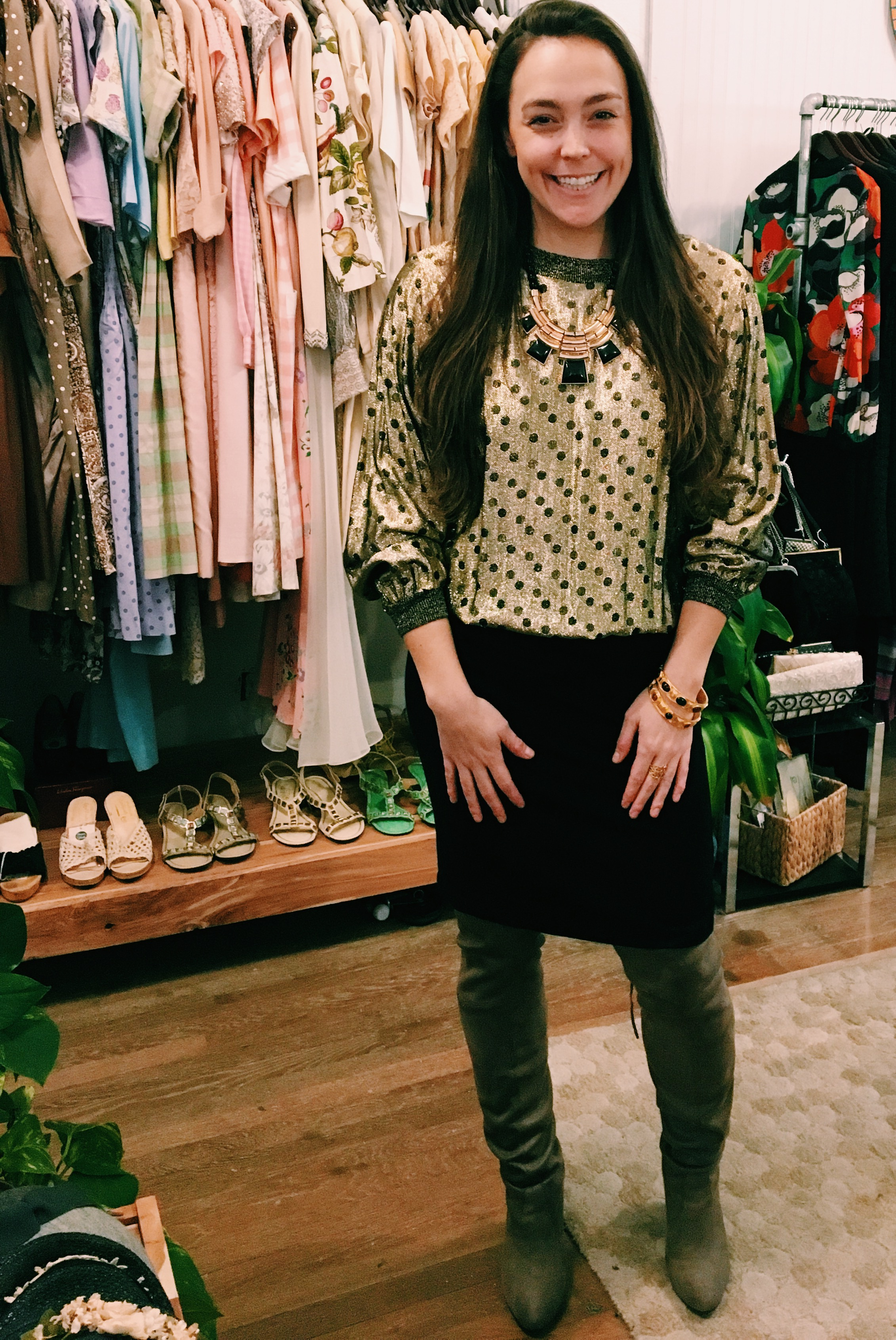 1980's Polka Dot Top, $58