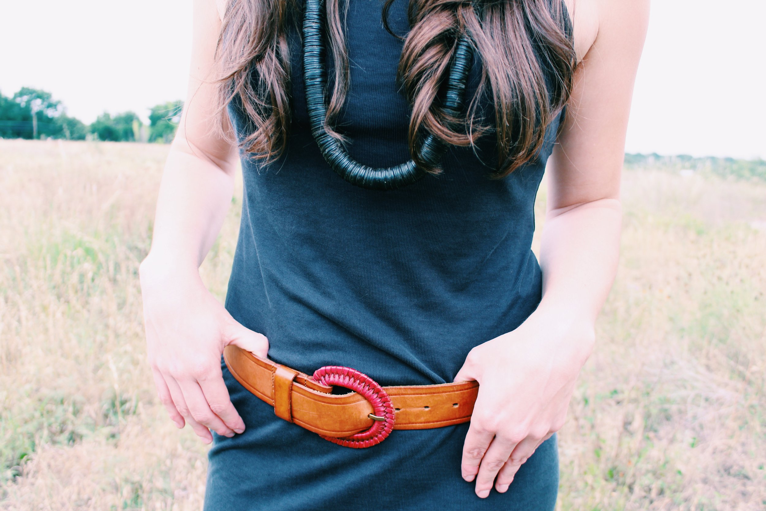 Greer Image Consulting - Blog - How to Pack: Napa Edition - The Greer Guide to Style - Statement Necklace - Chunky Necklace - Beaded Necklace - Beads - Brown Belt