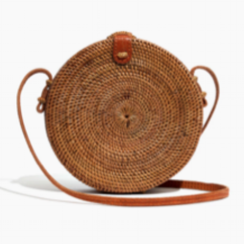 folk fortune bali rattan bag from Madewell.com