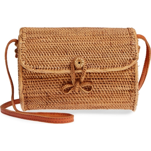cylinder woven crossbody bag from Nordstrom.com