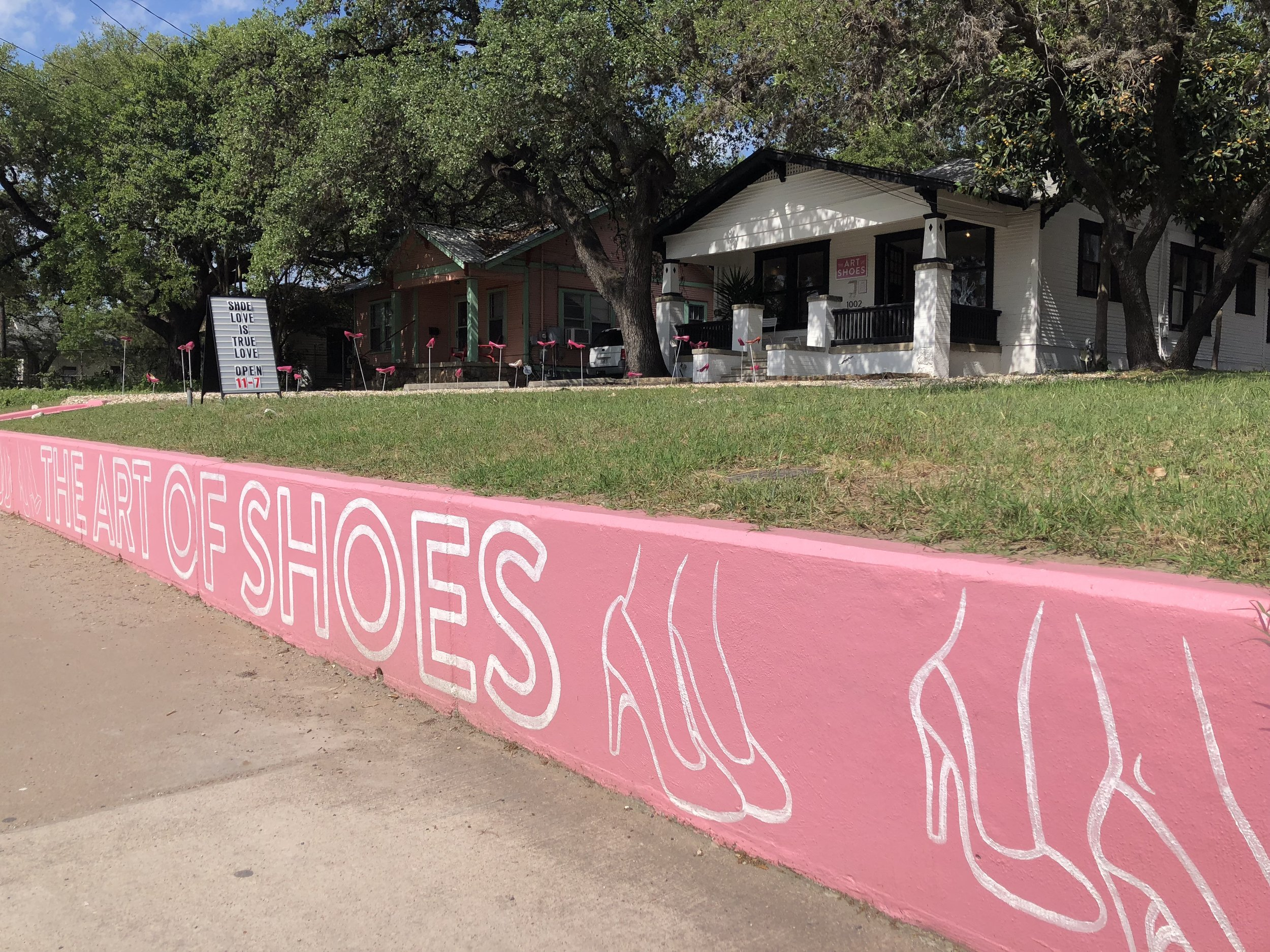 A little glimpse at the fun South Austin shop, Art of Shoes