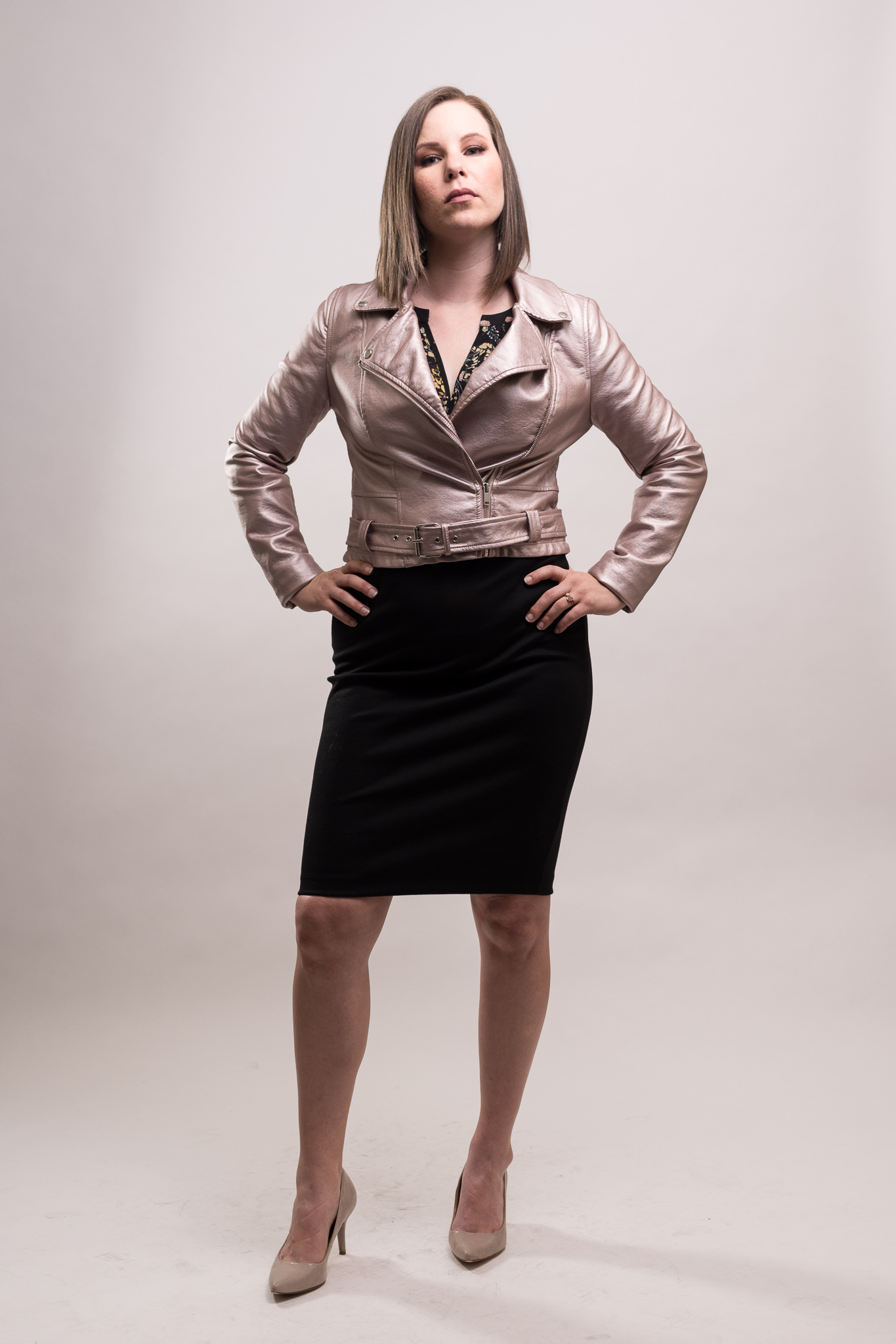 Raquel Greer Gordian styles Jessica for business casual occasions in the fall.