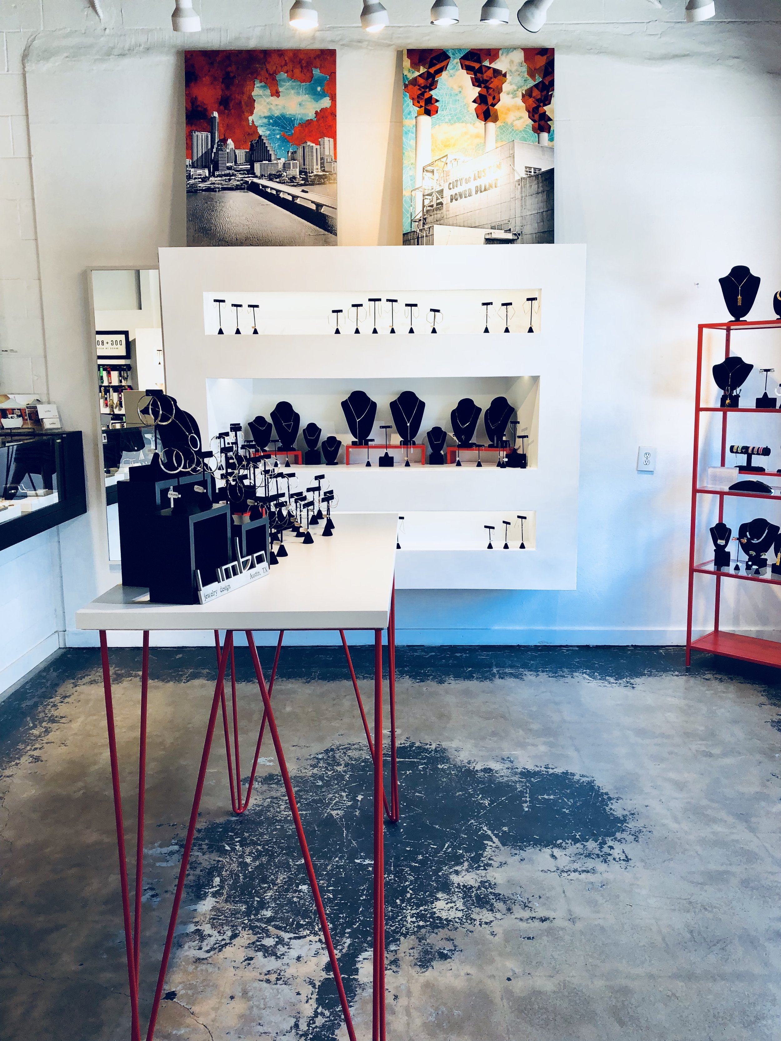 A photo of the interior of Limbo Jewelry on South Congress