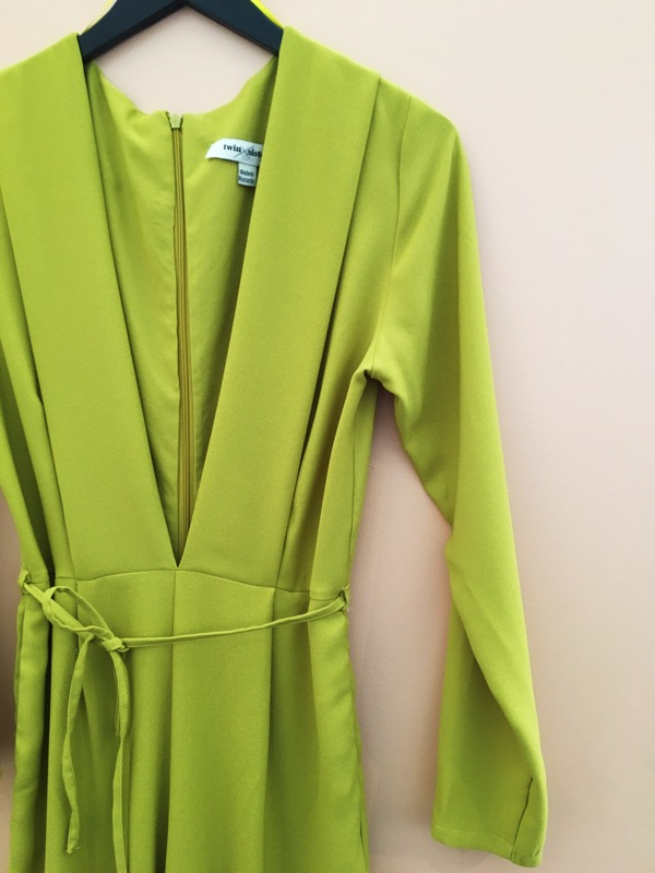 A chartreuse jumpsuit is the perfect addition to the playful Austin gal's closet. Stop by Dylan Wylde at Le Garage sale to find fun pieces like this and more.