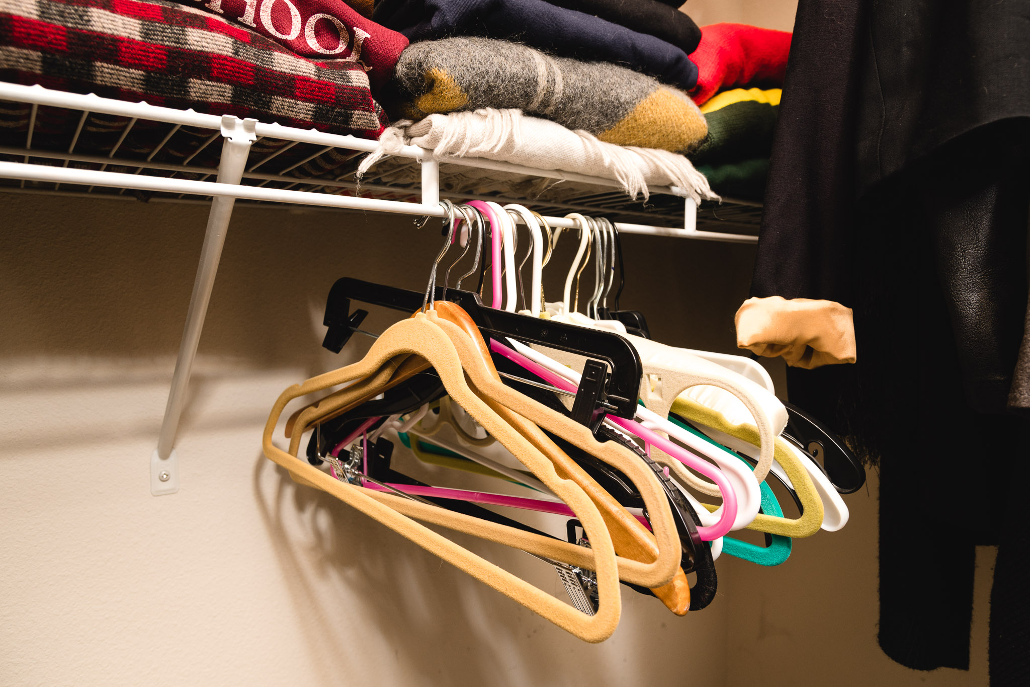 Empty hangers should have a space of their own.