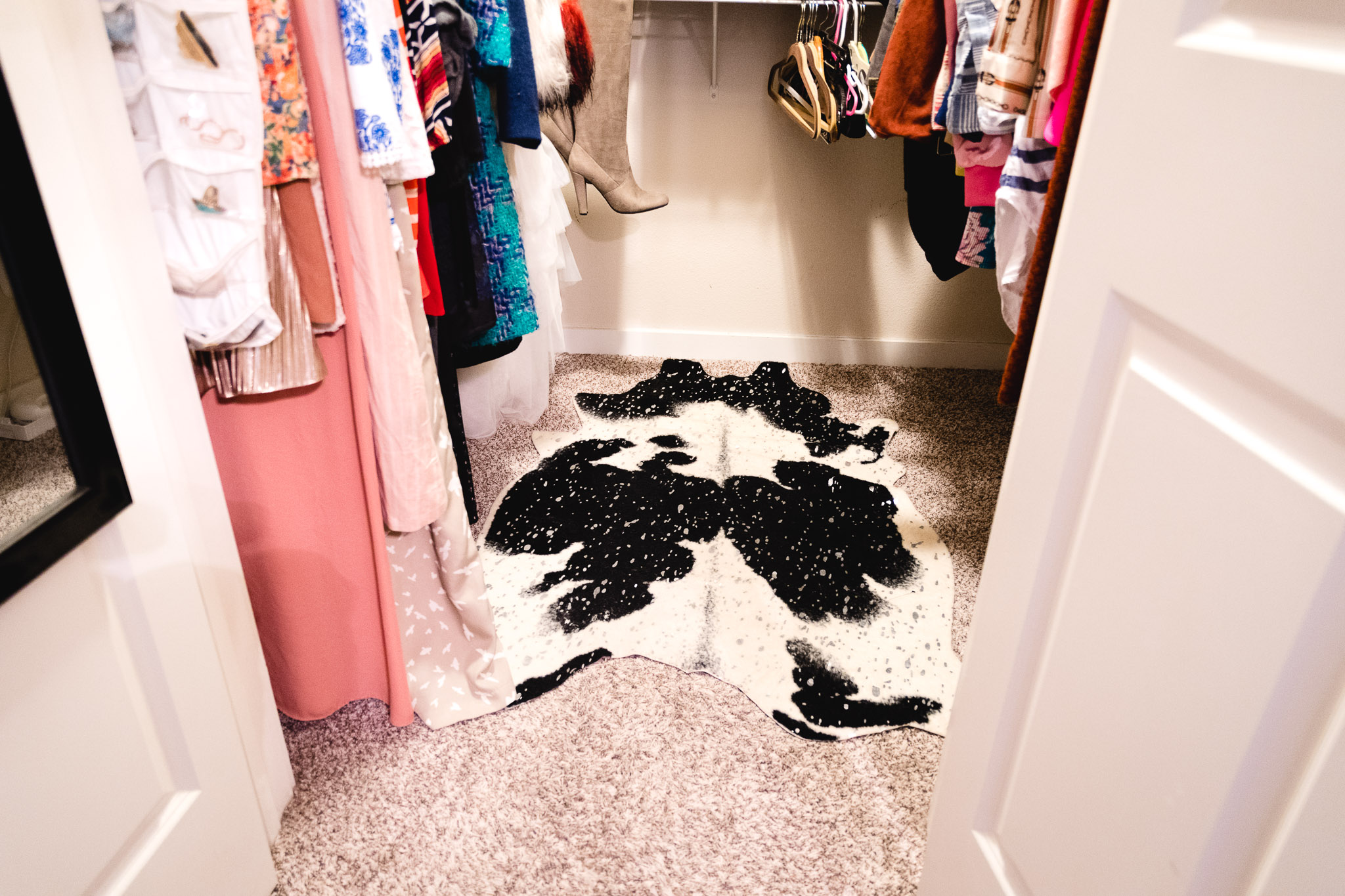 A rug will add the perfect pop to your closet and make it just as special as every other room in the house.