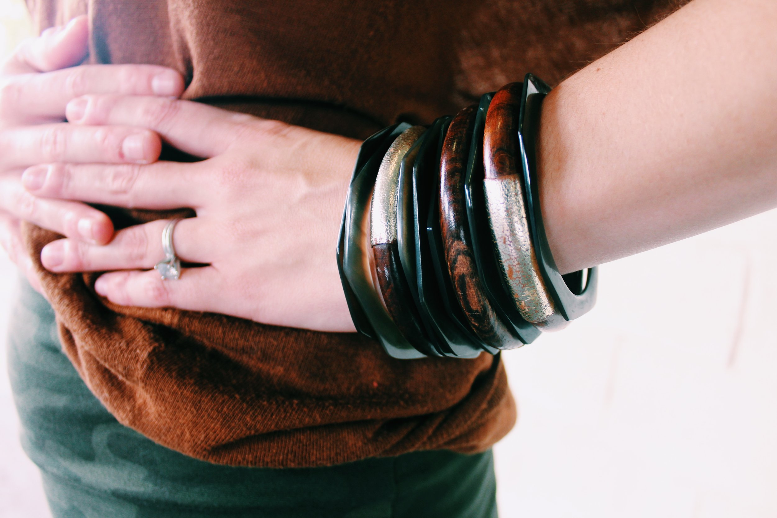 Stack it up! The more, the merrier when it comes to bangles.
