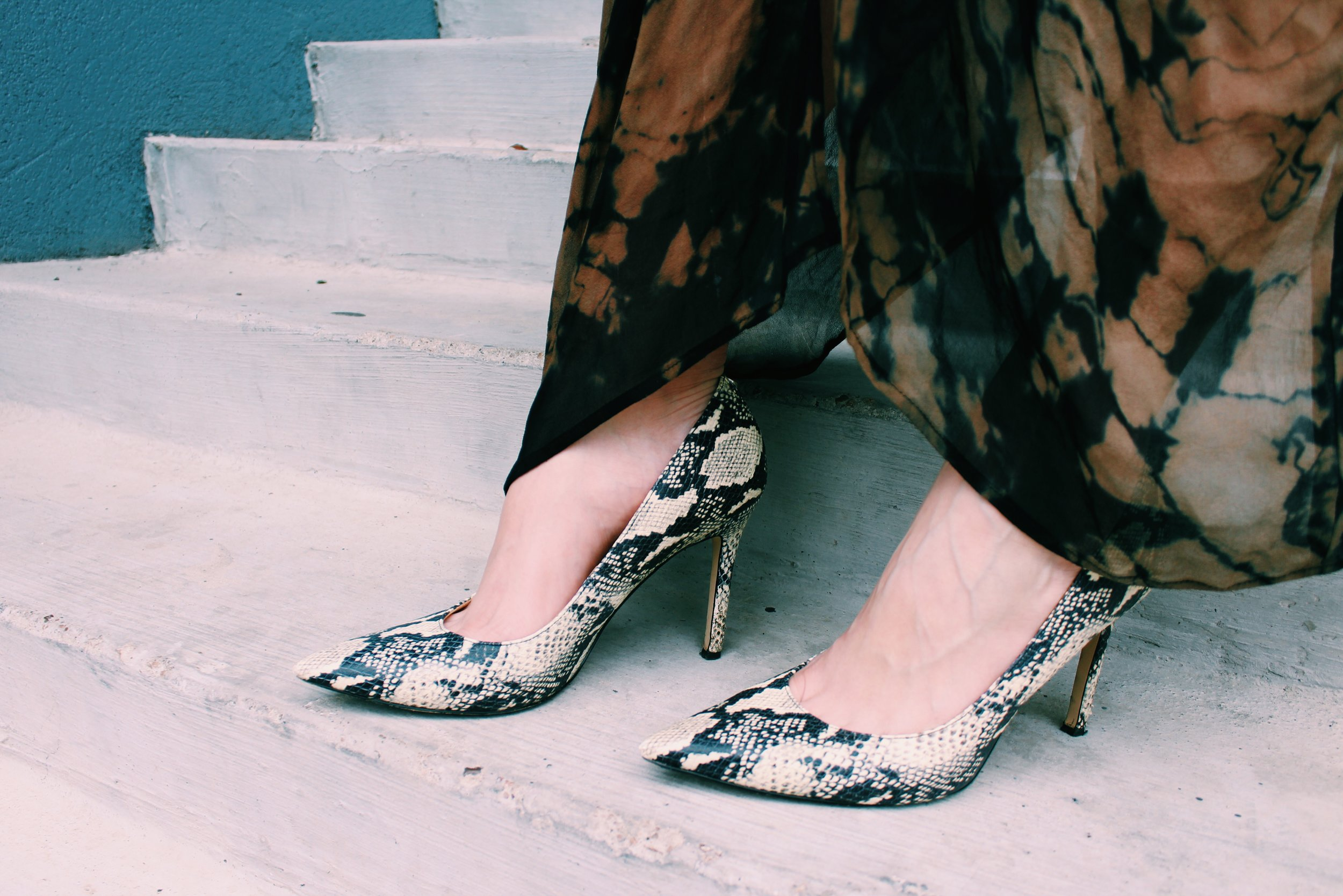 Go fierce with your look by adding snakeskin, leopard, or cheetah to your outfit.