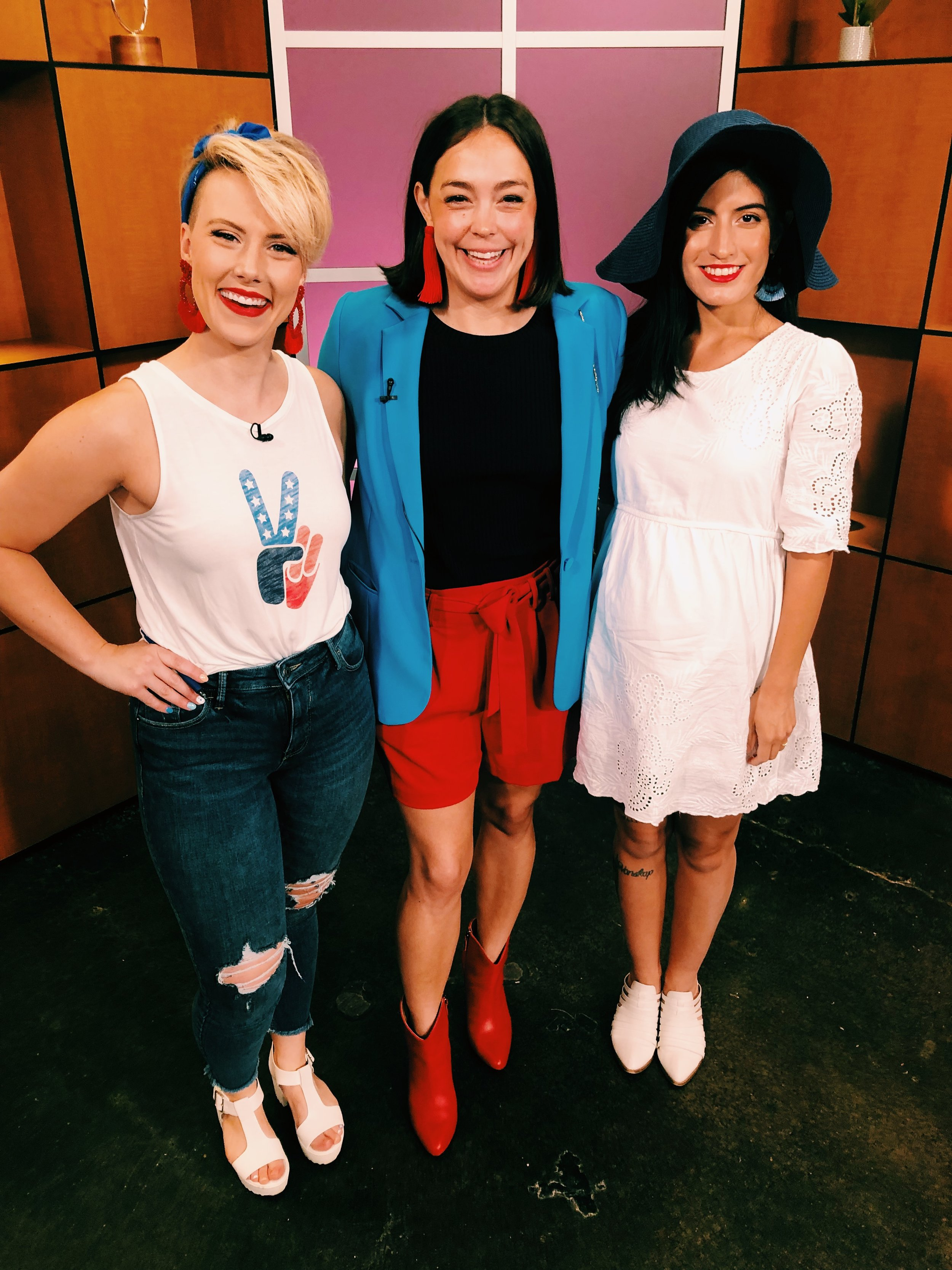 Raquel Greer Gordian visits Studio 512 to chat all about how to dress for the summer's biggest holiday: July 4th! Whether you're heading to the pool, a barbecue, or a dressy casual dinner, Raquel gives you easy styling tips to create a red, white, and blue look you'll love for July 4th 2019.