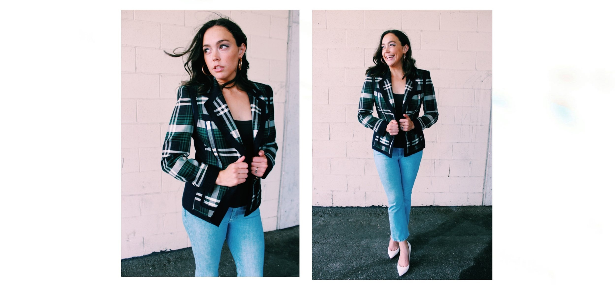 Raquel Greer Gordian shares simple ways to match your classic blazer to a basic tank.
