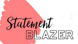 Raquel shares how to style a statement blazer for fall 2019.