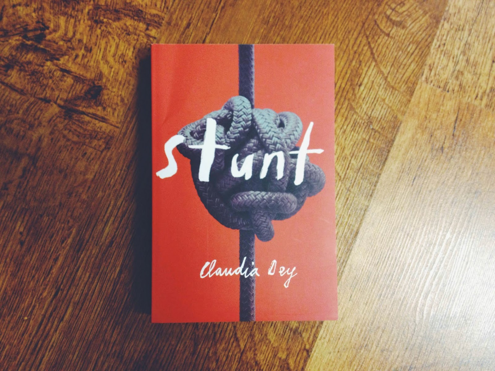 After seeing the cover and reading the first few pages, I can't wait to read Stunt by Claudia Dey, a Toronto-based writer. Cover design by  Jason Logan .