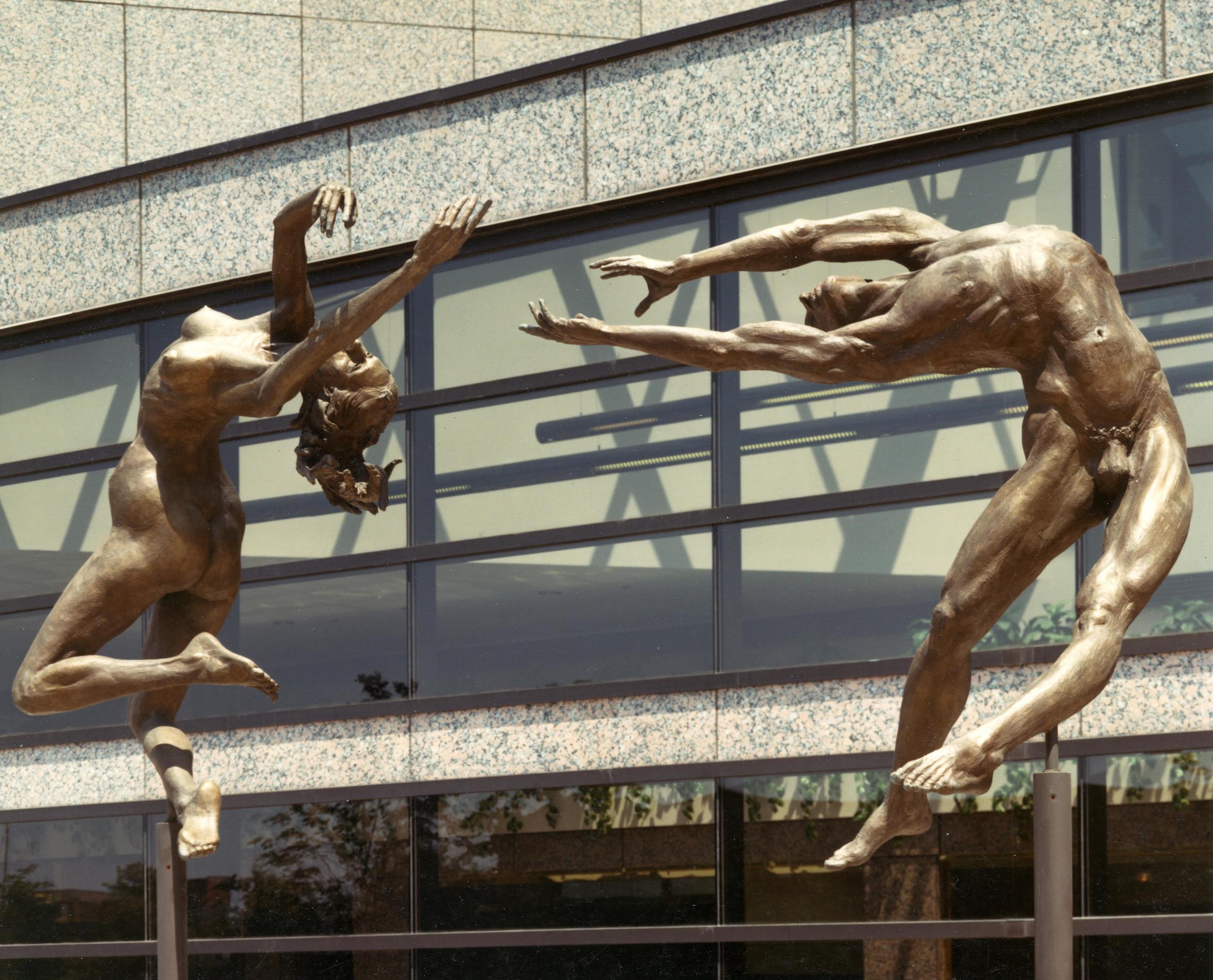 Reaching, public sculpture