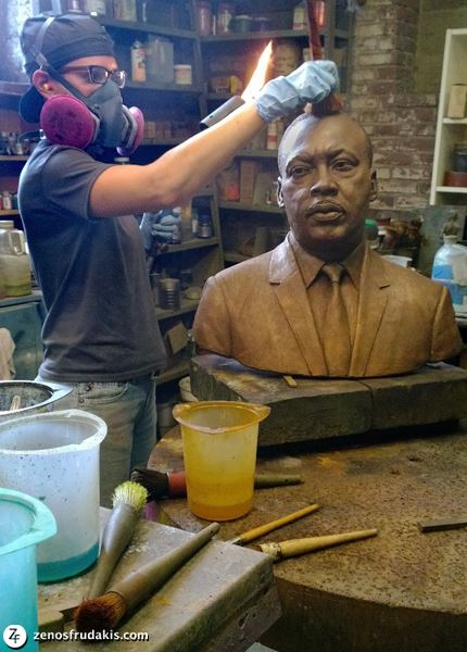 Martin Luther King sculpture at Laran Bronze Foundry.