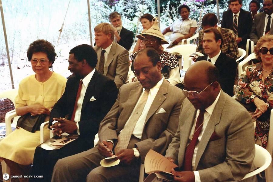 Audience attending the unveiling of the King portrai bronzet at the U.S. Embassy in Pretoria, South Africa.