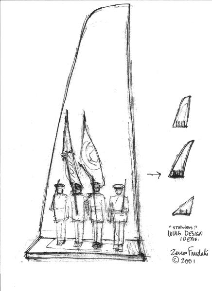 Sketch 1: US Air Force Memorial Honor Guard sculpture