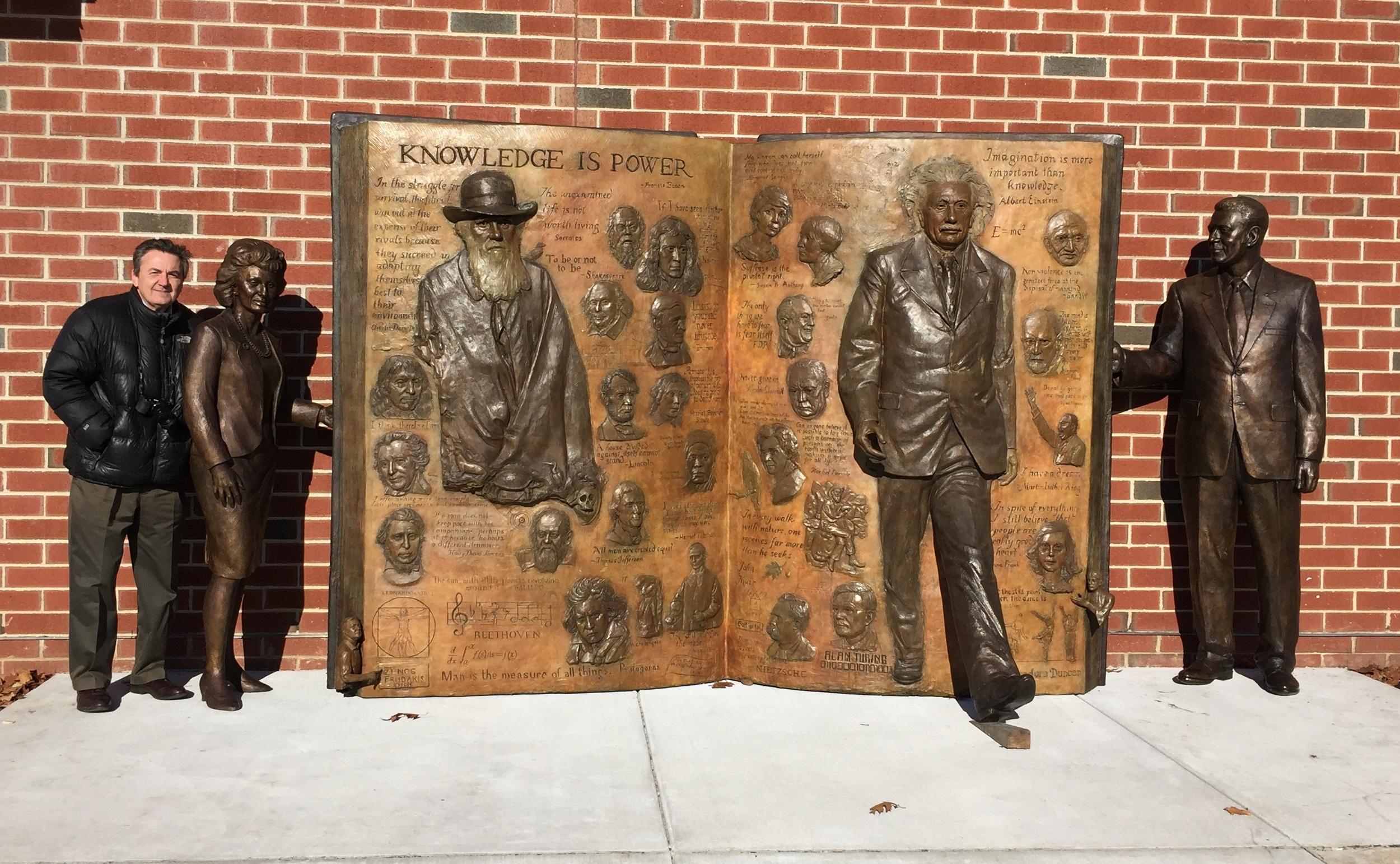 Knowledge is Power, public sculpture