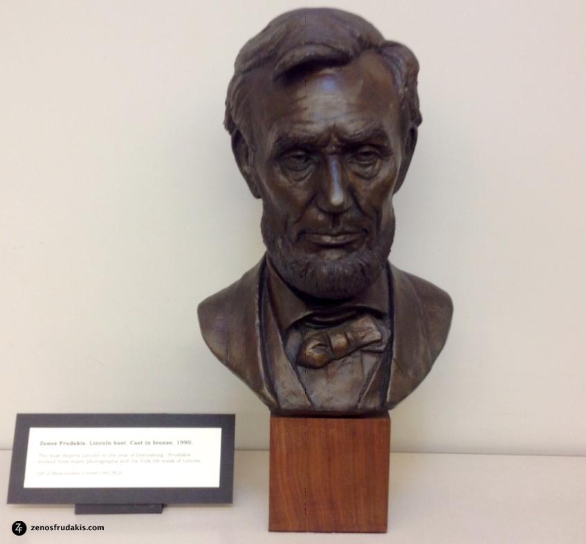 Abraham Lincoln portrait sculpture, Cornell Library