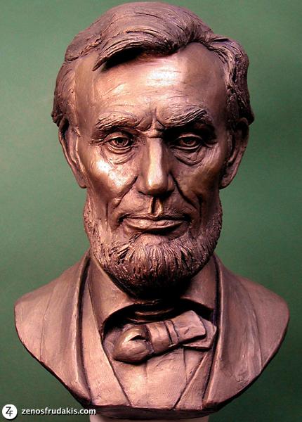 Abraham Lincoln portrait sculpture