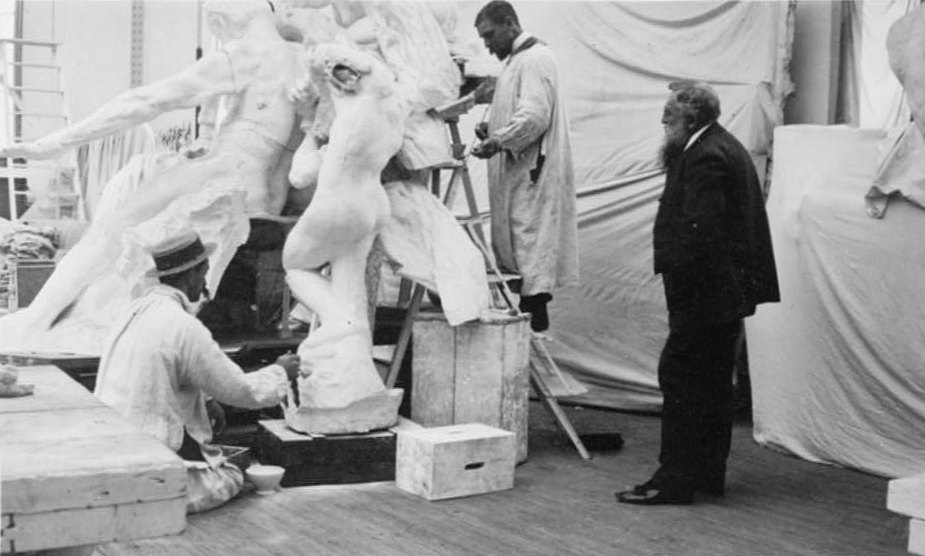 Rodin sculpting