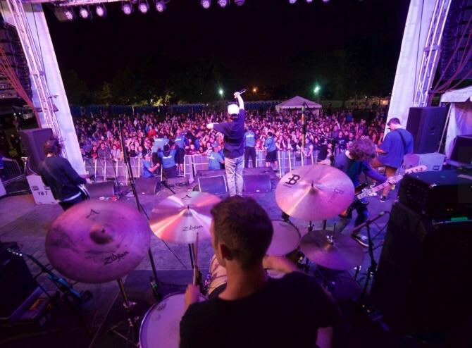 Knuckle Puck headlining the Revolt Stage at Riot Fest.   Photo: Berto Salgado