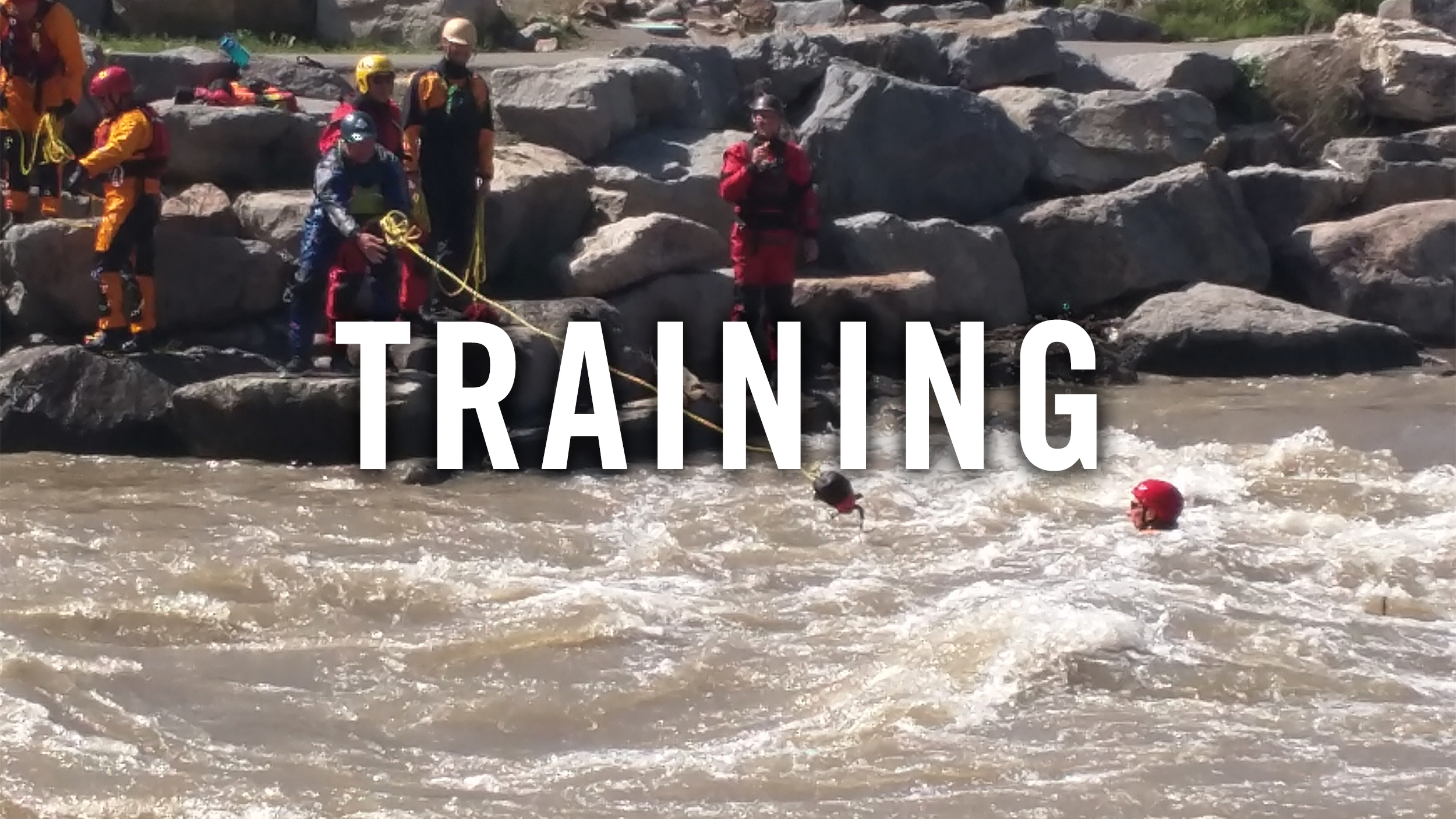 Hanging out at The Springs -swiftwater rescue refresher training