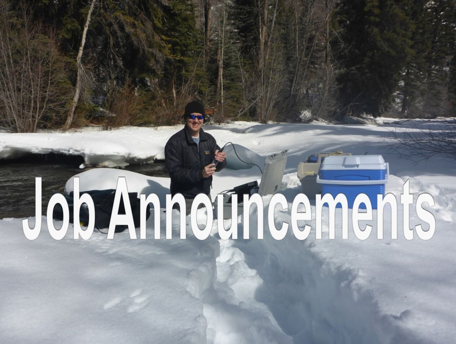 Chad Rudow Sampling at Meridith Site, River Watch Program
